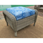 Laguna Beach Resin Wicker Ottoman  - DRIFTWOOD
