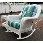 Laguna Beach Resin Wicker Rockers, White -