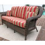 Laguna Beach Resin Outdoor Wicker Sofa  - ANTIQUE BROWN