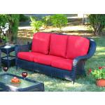 Laguna Beach Resin Outdoor Wicker Sofa  - BLACK