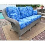 Laguna Beach Resin Outdoor Wicker Sofa  - DRIFTWOOD