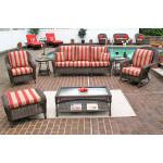 4 Piece Laguna Beach Resin Wicker Patio Furniture with Sofa, Chair, Rocker & Table - ANTIQUE BROWN