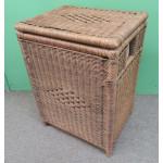 Large Wicker Hamper with Cloth Lining, Teawash Brown - TEAWASH