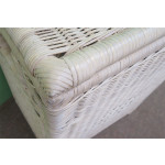 Medium Wicker Hamper, Cloth Lined, Whitewash     - WHITEWASH, CORNER