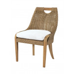 """Lane Venture Edgewood Resin Wicker and Teak (7) Piece Dining Set with Cushions 89""""  - SIDE CHAIR"""