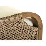 """Lane Venture Edgewood Resin Wicker and Teak (7) Piece Dining Set with Cushions 89""""  - ARM, DETAIL"""