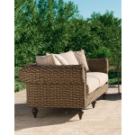 Lane Venture Hemingway Chesterfield Swivel Glider Chair with Cushions - SIDE VIEW