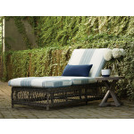 Lane Venture Mystic Harbor Resin Wicker Adjustable Chaise Lounge with Cushion -
