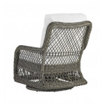 Lane Venture Mystic Harbor Resin Wicker Swivel Glider Chair with Cushions - REAR VIEW