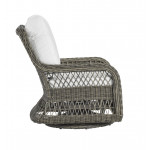 Lane Venture Mystic Harbor Resin Wicker Swivel Glider Chair with Cushions - SIDE VIEW