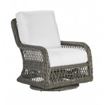 Lane Venture Mystic Harbor Resin Wicker Swivel Glider Chair with Cushions -  FRENCH GREY