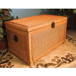 Wicker Trunks or Chests, Large - CARAMEL