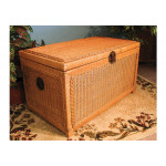Wicker Trunks or Chests, Large Woodlined Caramel -