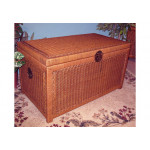 Wicker Trunks or Chests, Large Woodlined Tea Wash -