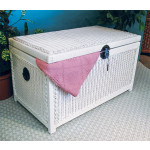 Wicker Trunks or Chests, Large - WHITE