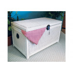 Wicker Trunks or Chests, Large Woodlined White -