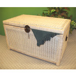 Wicker Trunks or Chests, Large - WHITEWASH