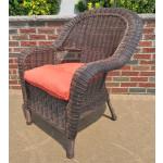Malibu Resin Wicker Chair - ANTIQUE BROWN