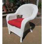 Malibu Resin Wicker Chair - WHITE