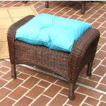 Malibu Wicker Ottoman  - ANTIQUE BROWN