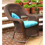 Malibu Resin Wicker Rocking Chairs - ANTIQUE BROWN