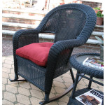 Malibu Resin Wicker Rocking Chairs - BLACK