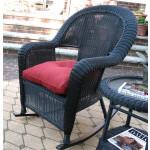 Malibu Resin Wicker Rocking Chairs, Black -