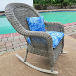 Malibu Resin Wicker Rocking Chairs, Driftwood -