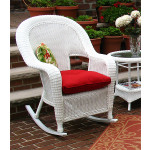 Malibu Resin Wicker Rocking Chairs, White -