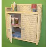 Wicker Wall Rack, 2 Doors White Wash -