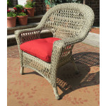 3 Piece Madrid Resin Wicker Chat Set (1) Chair (1) Rocker - DRIFTWOOD FINISH