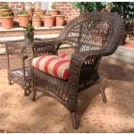 Madrid Resin Wicker Chair  - RUSTIC BROWN