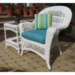 Madrid Resin Wicker Chair  - WHITE