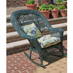 Madrid Resin Wicker Rocking Chairs - HUNTER GREEN