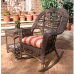 Madrid Resin Wicker Rocking Chairs - RUSTIC BROWN