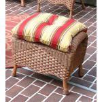 Naples Wicker Bench/Ottoman with Cushion - TEAWASH