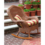 Naples Natural Wicker Rocking Chair. High Back - TEAWASH