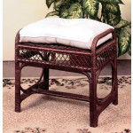 Savannah Wicker Bench/Ottoman - COFFEE