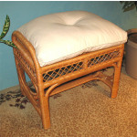 Savannah Wicker Bench/Ottoman - CARAMEL