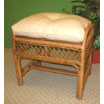 Savannah Wicker Bench/Ottoman - CHESTNUT