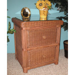 Pavilion 2-Drawer Wicker Night Stand - TEAWASH