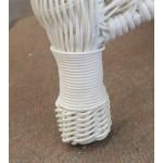 Palm Springs Resin Wicker Ottoman  - WOVEN LEG DESIGN