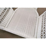 5 Piece Palm Springs Resin Wicker Furniture Set, Love Seat, Chair, Ottoman, Rocker &  Cockktail Table - CHAIR SEAT