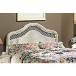 Pavilion X-Top King Wicker Headboard, White -