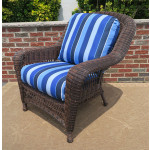 Palm Springs Resin Wicker Chair  - ANTIQUE BROWN