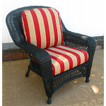 Palm Springs Resin Wicker Chair  - BLACK