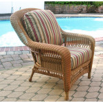 Palm Springs Resin Wicker Chair  - GOLDEN HONEY