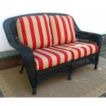Palm Springs Resin Wicker Love Seat  - BLACK