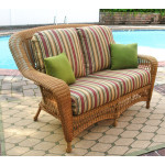 Palm Springs Resin Wicker Love Seat  - GOLDEN HONEY