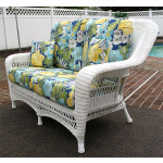 Palm Springs Resin Wicker Love Seat  - WHITE